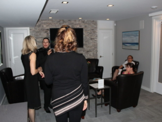 Beauty Works Day & Medi Spa   Belleville, ON   40th Anniversary & Grand Opening VIP Night   Fireplace Lounge
